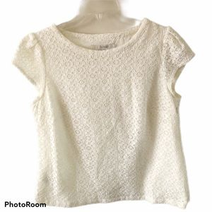 Boden Ivory Lace Top